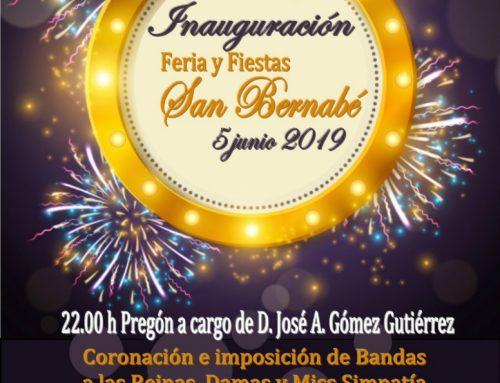 Inauguración Feria y Fiestas San Bernabé